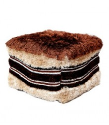 Buy Shag Polyester Pouf Online - IND-PF-022