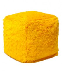Buy Fur Polyester Pouf Online - IND-PF-023