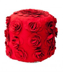 Buy Wool Mix Rose Pouf Online - IND-PF-025