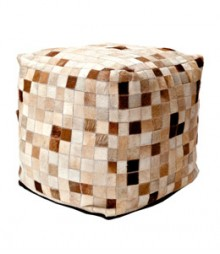 Buy Small Boxes Leather Pouf Online - IND-PF-026