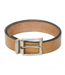 Genuine Designer Leather Tan color Belt B-1261