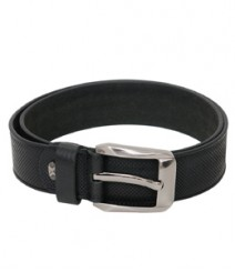 Genuine Leather Black Dotted Regular Belt B-1264