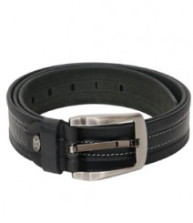 Genuine Leather Thread stich designer Black Belt B-1267
