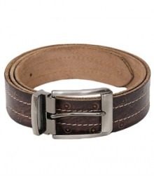Thread with hole Designer Genuine Leather Brown Belts B-1268