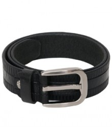 Genuine Designer Leather Black Formal Belt B-1270