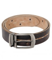 Long Thread Stich with Holes Designer Leather Belts B-1273