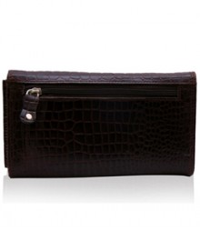 Ladies wallet combo 111 croco (Ladies wallet + Leather Keyring + Scarf )