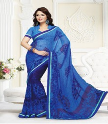 Fab Blue coloured Mix Georgette Ethnic Casual Wear Saree