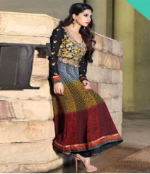 Astounding Multi coloured Georgette Anarkali Suits