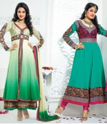 Pure Georgette Semi-Stitched Embroidered Salwar Kameez LFS20079012