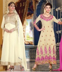 Pure Georgette Semi-Stitched Embroidered Salwar Kameez LFS3500107