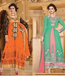 Pure Georgette Semi-Stitched Embroidered Salwar Kameez LFS3500306