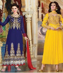 Pure Georgette Semi-Stitched Embroidered Salwar Kameez LFS3500405