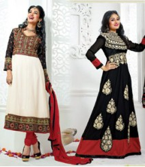 Pure Georgette Semi-Stitched Embroidered Salwar Kameez LFS4200405