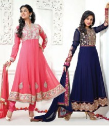 Pure Georgette Semi-Stitched Embroidered Salwar Kameez LFS5900309