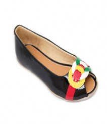 Black Casual Peeptoes Ahj602bk