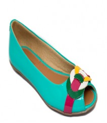 Turquoise Casual Peeptoes Ahj602gn