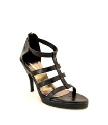 Black Pencil Sandals Heel