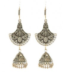 Meera Jhumkis FAAPER07 Earrings Made from German Silver