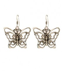 Jumbo Butterfly Hoops FAAPER08 Earrings German Silver