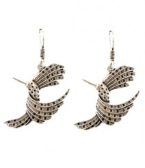 Swallow Hoops FAAPER10 Earrings Made from German Silver