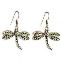Dragonfly Hoops FAAPER11 Earrings Made from German Silver