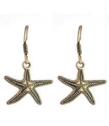 Starfish Hoops FAAPER12 Earrings Made from German Silver