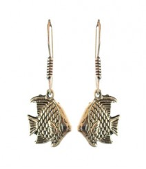 Cute Fish Hoops FAAPER13 Earrings Made from German Silver