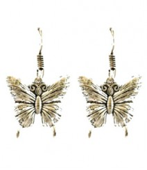 Cute Butterfly Hoops FAAPER15 Earrings Made from German Silver