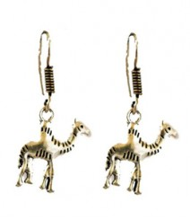 Cute Camel Hoops FAAPER16 Earrings Made from German Silver