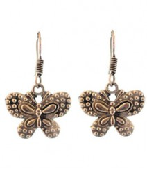Cute Dotted Butterfly Hoops FAAPER17 Earrings Made from German Silver