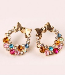Colorful AD Wreath Ear Studs FSNV34