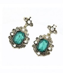 The Royal Gemstone Earrings - Green FSNV40