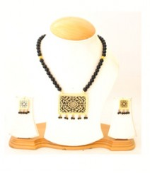 Carved Jewelry Set with Micro Gold Plating FAAPER18 Made from Alloy