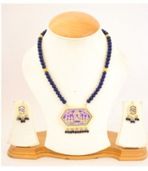 Carved Jewelry Set with Micro Gold Plating FAAPER19 Made from Alloy