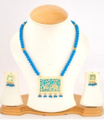 Carved Jewelry Set with Micro Gold Plating FAAPER20 Made from Alloy
