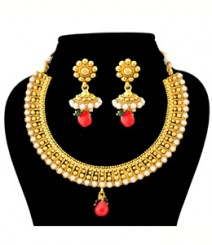 Pratima Jewelry Set FAAPER25 Made from Alloy with Gold Plating
