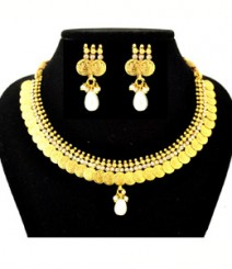 Afzaa Coin Jewelry Set FAAPER27 Made from Alloy with Gold Plating