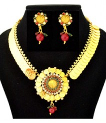 Acshah Coin Jewelry Set FAAPER28 Made from Alloy with Gold Plating