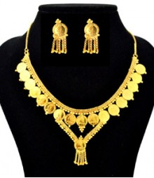 Pretty Coin Jewelry Set FAAPER30 Made from Alloy