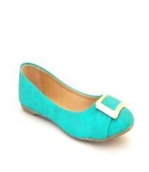 Flat Green Ballerinas