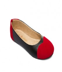 Black And Red Casual Ballerina Stj004bkrd