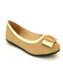 Flat Beige Casual/Daily Ballerinas