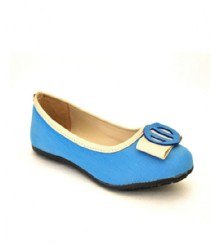 Flat Blue Casual/Daily Ballerinas
