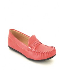 Red Casual/Daily Loafers