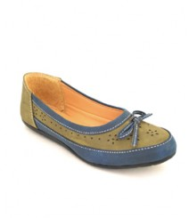 Flat Casual/Daily Ballerinas Olive-Blue
