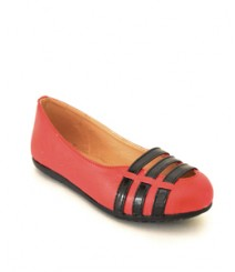 Flat Casual/Daily Ballerinas Red