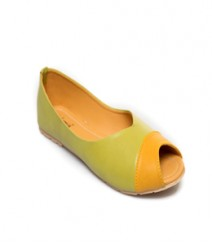Green Casual Peeptoes Vjybl109gn