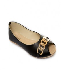Black Casual Peeptoes Vjybl111bk