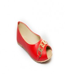 Red Casual Peeptoes Vjybl111rd